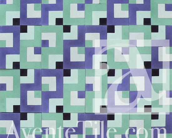 "Geometric Geo 05 Cement Tile 8"" x 8"" -"