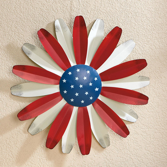 red white and blue 3d wallflower contemporary outdoor On blue and white outdoor christmas decorations