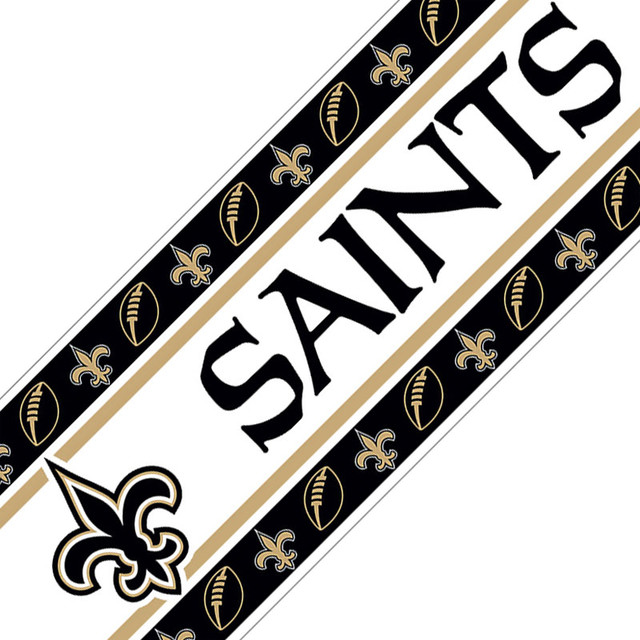 NFL New Orleans Saints Black Wall Border Peel and Stick