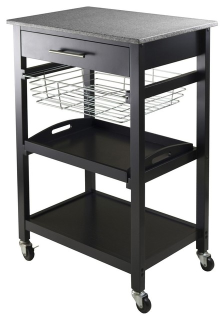 winsome wood 20322 kitchen cart contemporary kitchen islands and kitchen carts by living. Black Bedroom Furniture Sets. Home Design Ideas