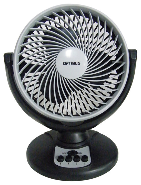 8-Inch Turbo High Performance Oscillating Fan, Black Gray contemporary-electric-fans
