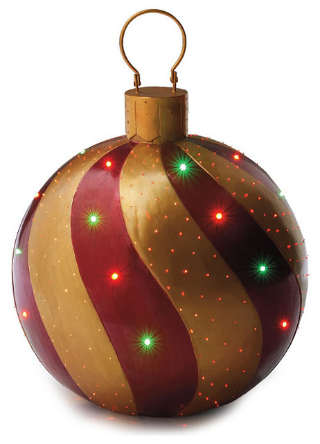 Red & Gold Fiber-optic Ornament - Frontgate - Outdoor ...