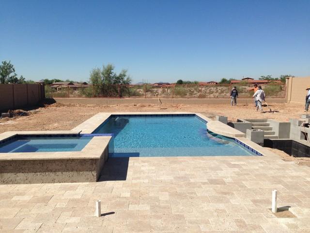 Scottsdale Pool Under Construction Contemporary Pool Phoenix By Republic Gardens
