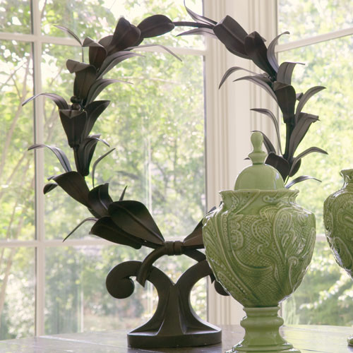 Laurel Wreath Sculpture traditional-decorative-objects-and-figurines
