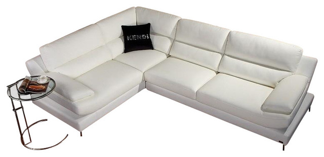 K8448 White Eco-Leather Sectional Sofa modern-sectional-sofas
