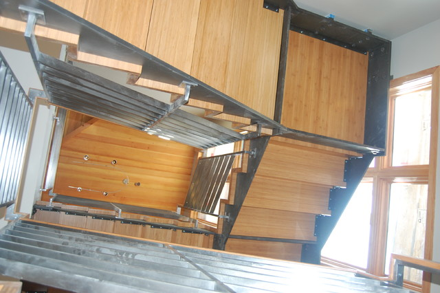 Bamboo stairs modern-staircase