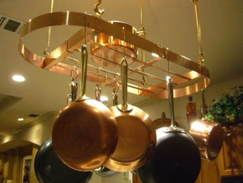 Kitchen spaces - copper pot rack - Pot Racks And Accessories - other ...