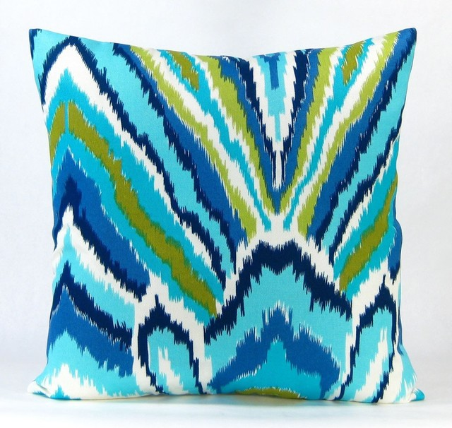 Peacock Blue Throw Pillow : Peacock Throw Pillow - Blue
