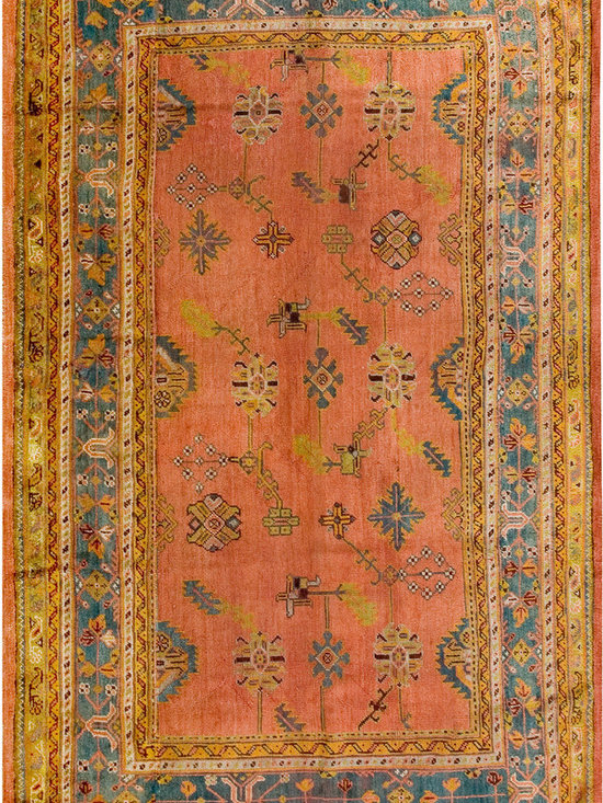 "Antique Turkish Oushak Carpets - #19062 antique Turkish Oushak carpet 8'5"" x 13'5"""