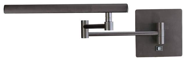 George Kovacs Madake Bronze Plug-In Swing Arm Wall Lamp contemporary-wall-lighting