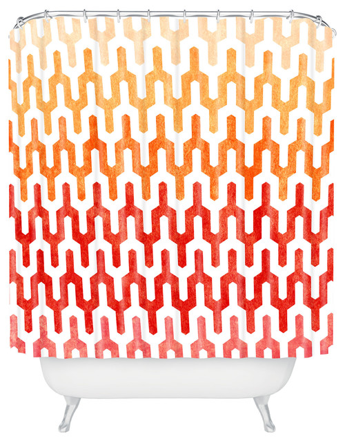 contemporary shower curtains Fiery Fabrics (& Fixtures) for Winter