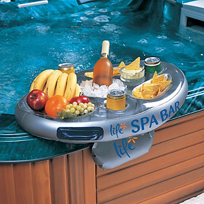 Floating Spa Bar contemporary-home-fencing-and-gates