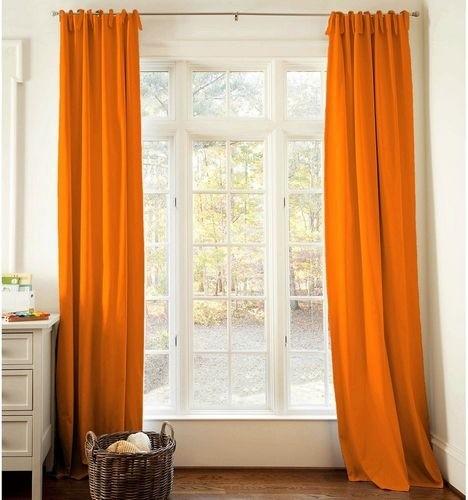 Orange Drapes modern-curtains