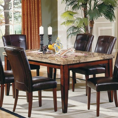 Marble Top Rectangular Dining Table Contemporary Dining Tables