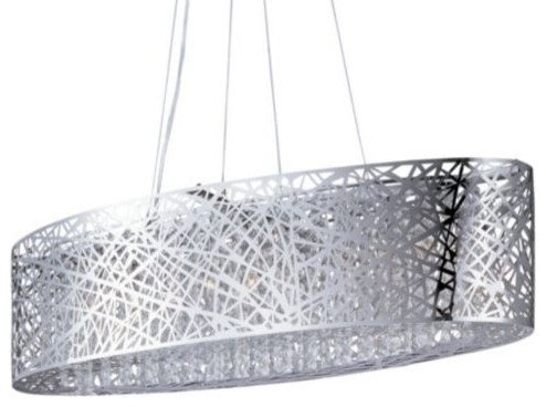 Inca Oval Suspension by ET2 Lighting modern-chandeliers