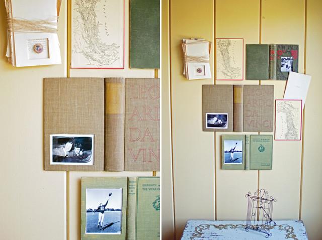 Repurposed & Vintage Book Wall Art eclectic