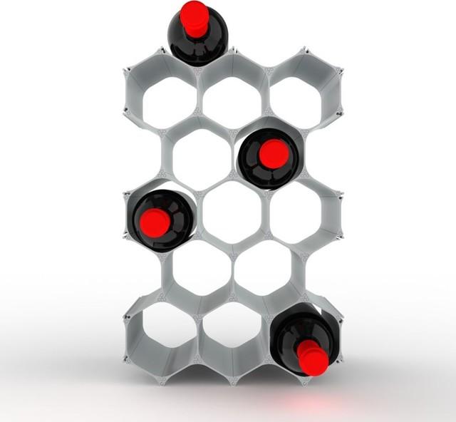 WineHive 15-Bottle Modular Wine Rack contemporary-wine-racks