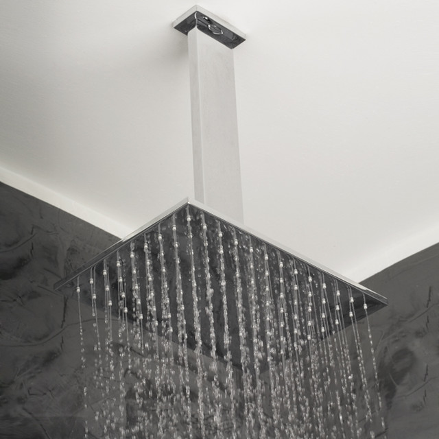 Lacava Cubista Ceiling Mount Rain Showerhead modern showers