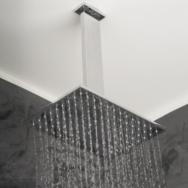 lacava cubista ceiling mount rain showerhead modern