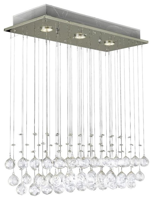 Modern Rain Drop Chandelier With Crystal Balls