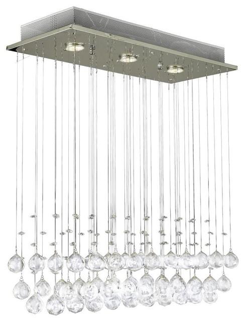 Modern Chandelier Rain Drop Lighting Crystal Ball Fixture Pendant Ceiling Lamp Contemporary