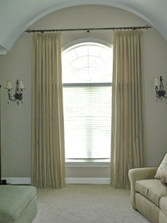 Arched Top Windows Traditional Window Treatments