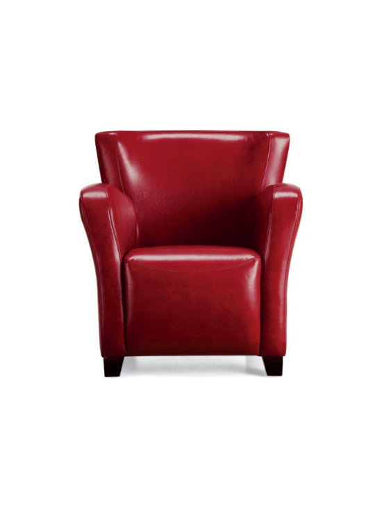 Grandin Road - Oxford Textured Leather Chair - Features classic club chair amenities like leather tightly stitched over a solid, kiln-dried hardwood frame. Stylish design that is much more affordable than large club chairs. Perfect for a cozy den, living room, or family room. Easy assembly to attach the legs. Our Oxford Leather Chair sports a space-friendly design with supportive cushioning. So at this compact size, it's a perfect fit for virtually any space and budget.  .  . . .
