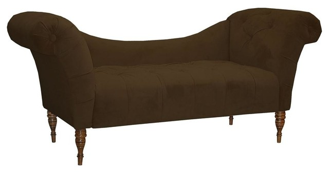 Brown chaise traditional indoor chaise lounge chairs for Brown chaise lounge indoor
