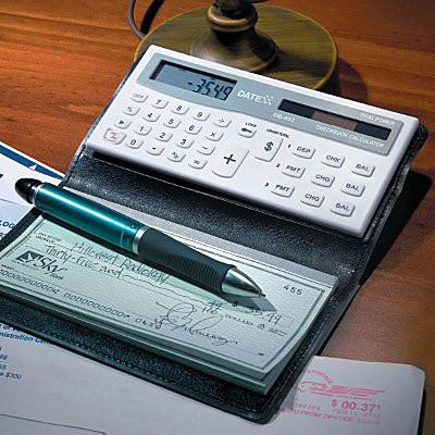 Checkbook Cover With Checkbook Calculator contemporary-desk-accessories