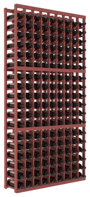 9 Column Standard Wine Cellar Kit in Pine, Cherry + Satin Finish contemporary-wine-racks