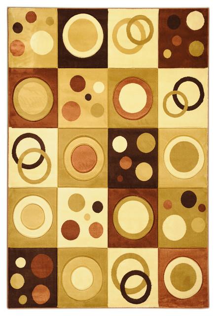 Brown Contemporary Abstract Design Rug contemporary-area-rugs
