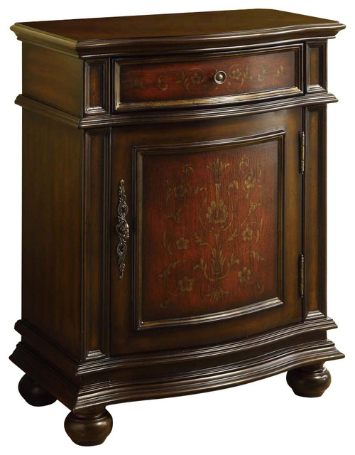 Monarch Specialties 3821 1 Drawer Bombay Cabinet In Cherry