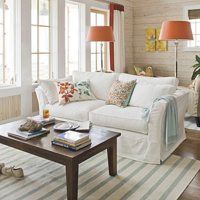 Living Room beach-style