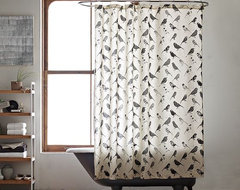 Bird Collage Shower Curtain modern-shower-curtains
