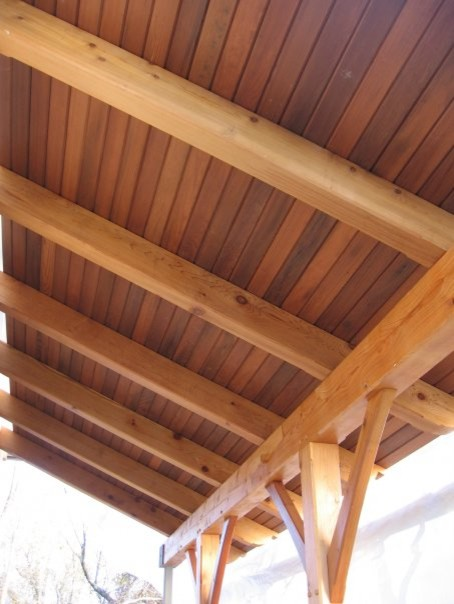 Redwood Wine Vat Ceiling Contemporary Porch Other