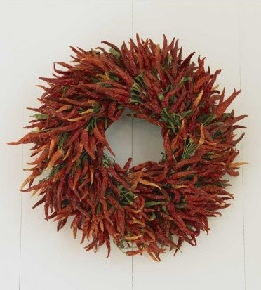 Red Hot Chili Pepper Wreath Contemporary Wreaths And