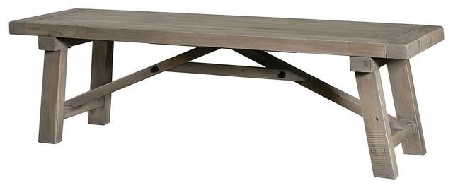 "Farmhouse 73"" Dining Bench contemporary-dining-benches"