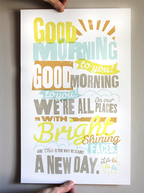 Good Morning To You Print by The Dapper Paper Co. contemporary-artwork