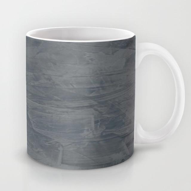 Slate Gray Stucco Coffee Mug Contemporary Mugs Other