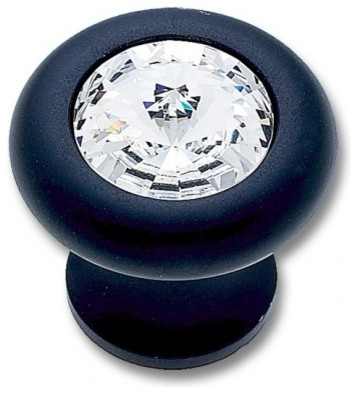 OIL RUBBED BRONZE FINISH 31\% LEADED CRYSTAL 30MM HALF ...
