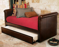 Ethan Leather Daybed with Trundle traditional-indoor-chaise-lounge-chairs