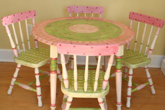Child S Custom Painted Table And Chair Set