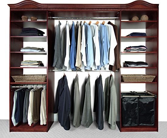 Closet Systems finished in Cherry modern closet organizers