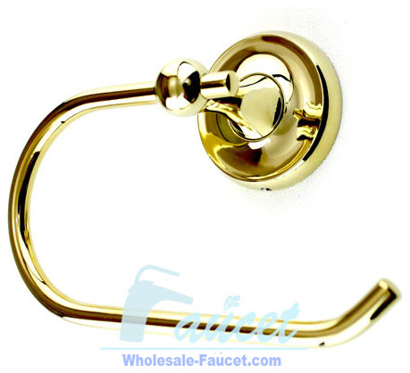 Luxury Polished Brass Towel Ring Holder contemporary-towel-rings