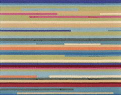 Peony Multi Stripe Rug modern-rugs