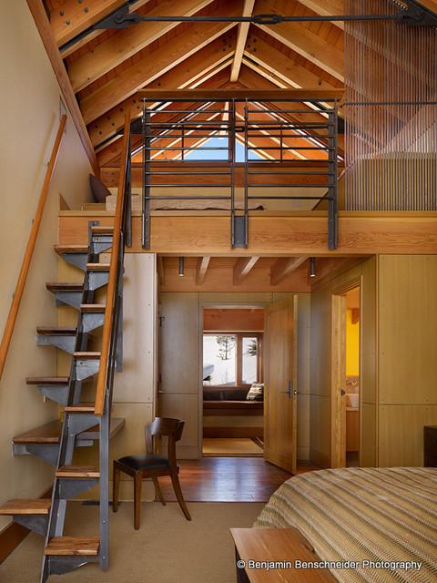 Loft Guest Bedroom contemporary-bedroom