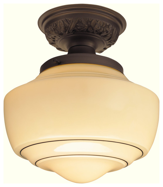 Spellman Semi-Flushmount Light Fixture traditional-ceiling-lighting