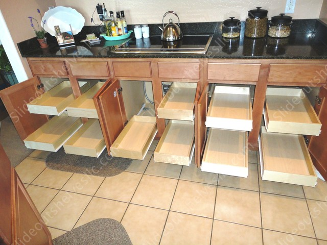 Kitchen Pull Out Shelves by slideoutshelvesllc.com cabinet-and-drawer-organizers