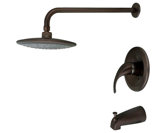 MR Direct 750-orb Oil Rubbed Bronze 3-Piece Rain Head Shower Set - The 750 3-Piece Rain Head Shower Set is an ADA approved shower set that is available in a brushed nickel, oil-rubbed bronze or chrome finish. This set has a limited temperature stop that prevents scalding when there is a change in water pressure. The 750 is pressure tested to ensure proper working conditions and is covered under a lifetime warranty. The rainfall spray head will create a relaxing experience that you will look forward to enjoying daily.