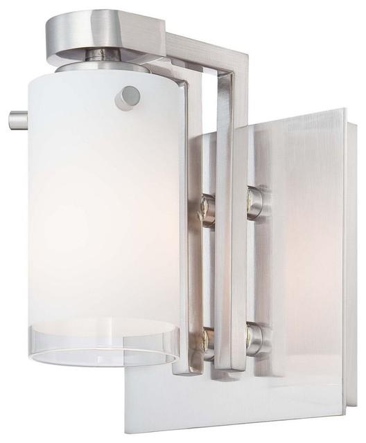 George Kovacs by Minka P5831-084 1-Light Bath Light - Brushed Nickel - 5W in. modern-wall-lighting